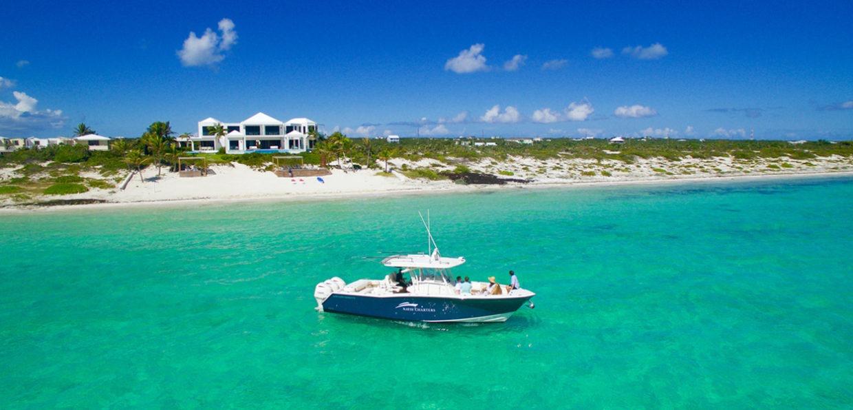 Boat Anchored Along Shore 4